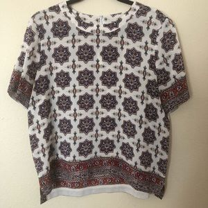 Madewell Silk Refined Tee in Medallion Stamp